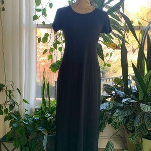 Long black dress by Karen Kane
